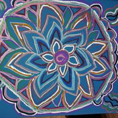 Mandala blauw