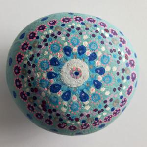 beschilderde steen