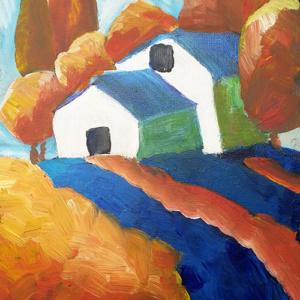 Schilderij Huisjes