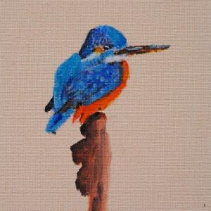 Vogeltje (2) 12 x 18 cm