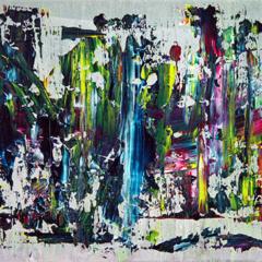 """Schilderij """"Gekleurd bos"""""""