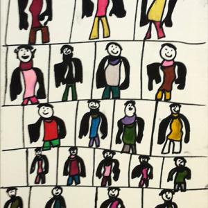 """Schilderij """"Mannen in deftig pak"""""""