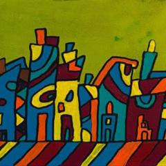 Schilderij 3 luik Waar ik woon