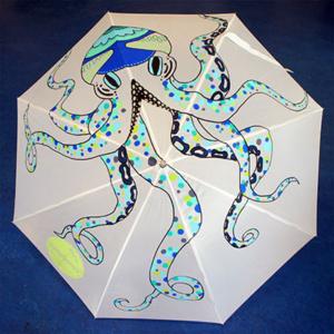Beschilderde paraplu Octopus