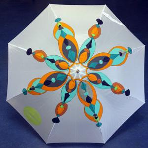 Beschilderde paraplu mandala