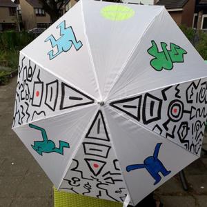Beschilderde paraplu Urban