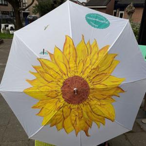 Beschilderde paraplu
