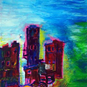 Schilderij De roze stad