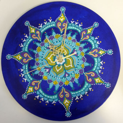 Klok van oude elpee mandala