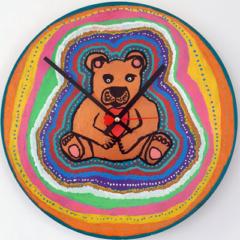 Klok van oude elpee beer