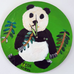 Klok van oude elpee panda