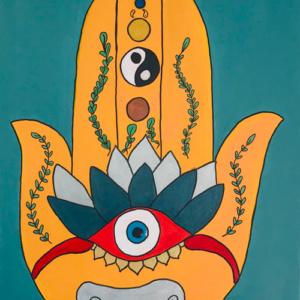 Schilderij Namasté