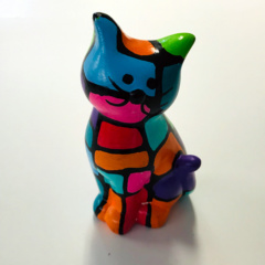 spaarpot poes multicolor