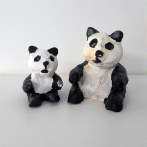 Keramiek panda's