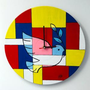 Klok van oude elpee duif