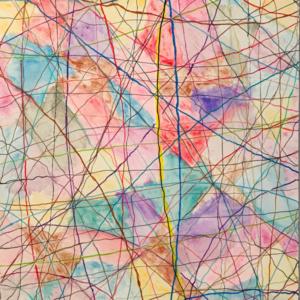 "Schilderij ""Colorfull lines"""