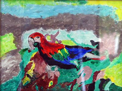 Schilderij Papegaai