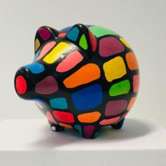 spaarpot varken multicolor
