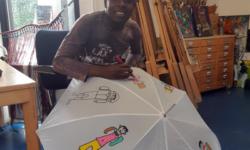 Paraplu beschilderen
