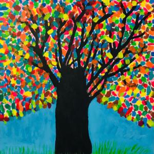 Schilderij Le bois de beaucoup de couleurs