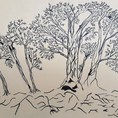 "Schilderij ""Forest"""