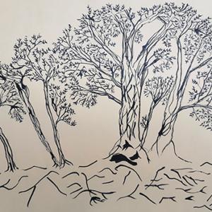 """Pentekening """"Forest"""""""
