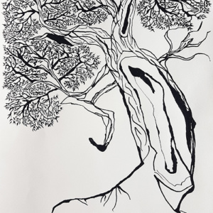 Pentekening 'Old Willow'