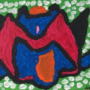 Schilderij Kasteelvlinder