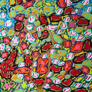 Schilderij Bloemenwals -Lentedroom