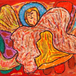 Schilderij Het vlinderhuis