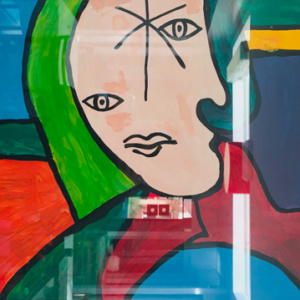 Schilderij Picassoman