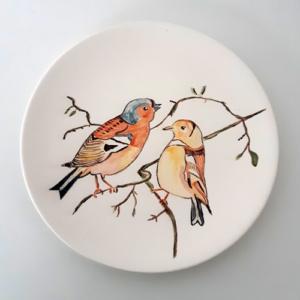 Vogels op bord