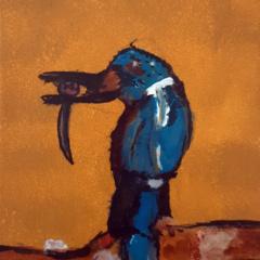 """Schilderij """"Ijsvogel"""""""