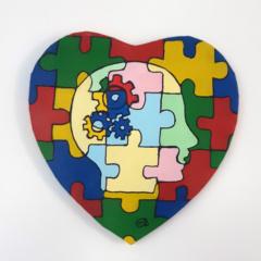 Schilderij De puzzel van autisme