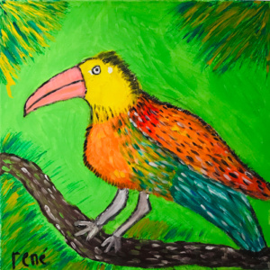 Schilderij Tropische René vogel