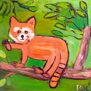 """Schilderij  """"Rode panda"""""""