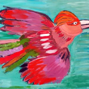 Schilderij Birdie