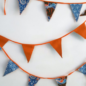 Slinger klein oranje blauw