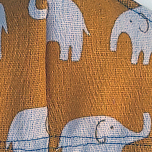 mondkapje klein geel met olifant