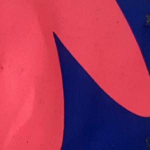 mondkapje groot blauw roze