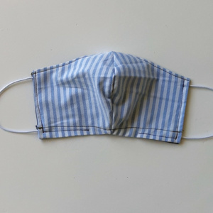mondkapje groot blauw wit streep