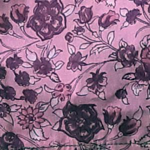 mondkapje groot roze met bloemetjes