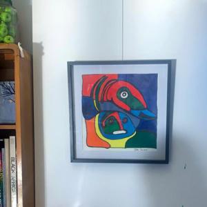 Schilderij Vogel van Appel