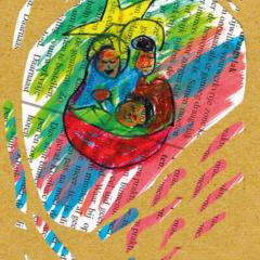 Setje van 6 ansichtkaarten serie Kerst