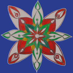 Setje van 6 Mandala's van Otto
