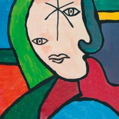 Setje van 6 ansichtkaarten serie Picasso