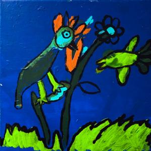 """Schilderij """"In de tuin"""""""