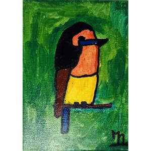 Schilderij Roodtie