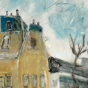 Schilderij Amsterdamse gracht