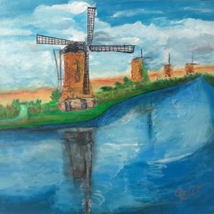 Schilderij De windmolen